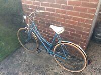 Vintage Blue Raleigh Bicycle
