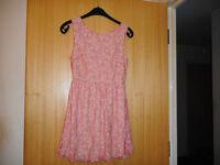 Atmosphere Orange/Cream Lace Dress Size 12