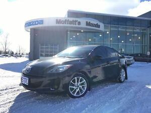 2013 Mazda MAZDA3 GT, LEATHER, SUNROOF, GPS, BSM, BLUETOOTH