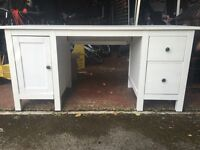 White IKEA Wooden Desk