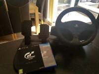 Ps4 steering wheel and gran turismo limited edition