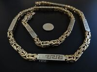 182grams Yellow and White 14ct 585 gold Kings Chain Byzantine hallmarked