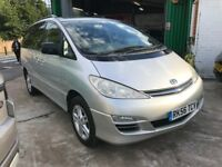 FINANCE £168 PR MOONTH 1 OWNER TOYOTA PREVIA TSPIRIT VVTI AUTO 7 SEATER MPV 86K MILES SATNAV 2 KEYS