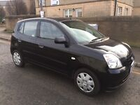 2006 KIA PICANTO 1.1 LX 5 SPEED MANUAL BLACK 5 DOOR - IDEAL FIRST CAR - LOW MILES