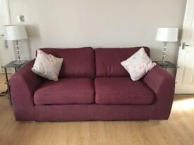 2x 3 seater sofas immaculate condition from dfs