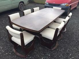 Solid Mahogany Table and 8 Chairs