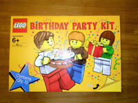 LEGO BIRTHDAY PARTY KIT #4597597 - NEW, UNOPENED, COMPLETE with 10 Birthday minifigures