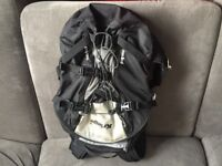 Kriega R35 backpack, 35 Litre motorcycle backpack. Very good condition, silver and black in colour.