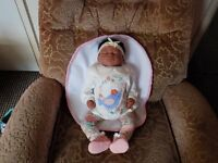 "Ethnic reborn baby doll 19"" in length like new"