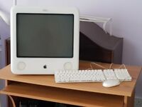 """Apple eMac 17"""" 40Gb hard Drive Mac OSX 10.4 with Air Play wireless card keyboard and mouse"""