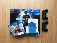 Playstation 4 Slim 500GB Barely Used + 2x Official PS4 Controllers + 2 Games