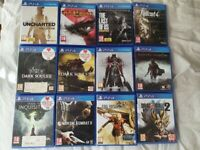 PS4 (1TB) with 12 + games! (barely used)