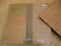 Cork floor tiles, 9 sq yards in unopened packaging