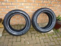 Nexen 225 55 R17 101W tyres almost new 2 tyres pair. Vauxhall Ford etc 225/55R17
