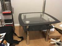 Glass side table £20 ONO
