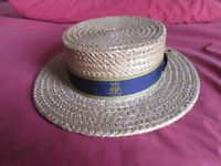 REDUCED: Old School Straw Boater from 1966 in perfect condition