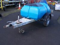 Water Bowser trailer 1000 litre tank