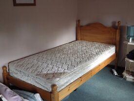 Pine single bed without mattress. Not a divan.