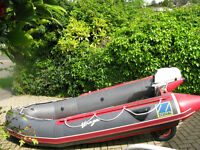 Zodiac 3.4m dinghy with Johnson 3.5hp 2 stroke short shaft outboard
