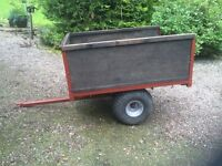 Trailer: Quad/garden tractor trailer, unbreaked good condition made by local engineer