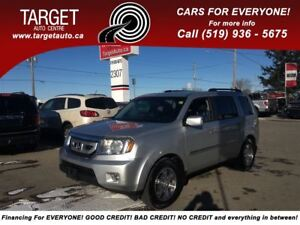 2009 Honda Pilot Touring, Leather,Navi, Roof, 8-Pass and More