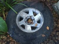 Wheel and tyre for Mitsubishi l200