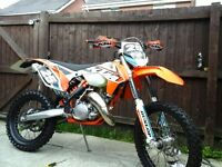KTM 125 EXC ROAD LEGAL ON 64 PLATE 2015