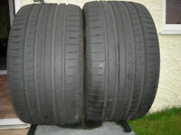 Pair 295/30/19 Goodyear Eagle F1 tyres