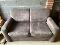 John Lewis sofa bed brown