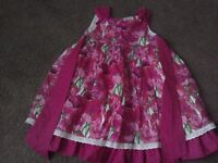 Pink flower design girls dress 3 yrs £5