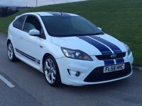 2008 58Reg Ford Focus 2.5 SIV ST-2 3dr WHITE FACE LIFT**ONE OWNER**PUSH BUTTON**FACE LIFT IN WHITE