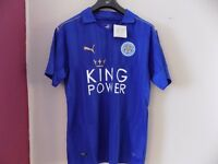 BRAND NEW LEICESTER CITY HOME FOOTBALL SHIRT SIZE M ONLY SEALED WITH ALL TAGS