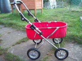 Push along pram/cart
