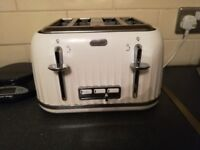 Breville white kettle and toaster