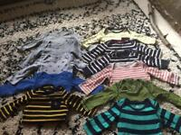 Baby gap long sleeved body suits 6-12months