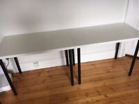 IKEA LINNMON Tables - 120cm x 60cm - White with adjustable black legs
