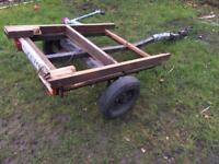 Trailer with working lights