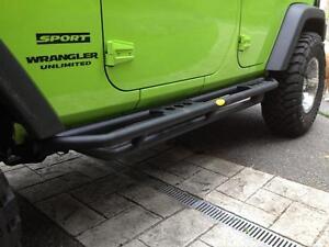 SmittyBilt SRC Side Armor-Black Textured Jeep 07-18 Jeep Wrangler (JK)-4 Door