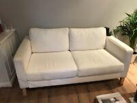 Lovely 2X Two Seater White Sofas