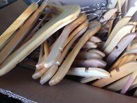 70 Wooden hangers - good condition