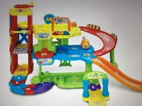 VTech toot toot garage, expansion track and 13 vehicles