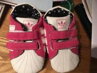 Baby girl size 2 Adidas shoes