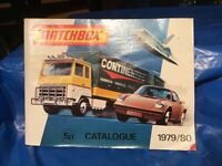 Matchbox diecast catalogue with range available between 1979 & 1980