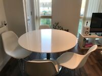 Dwell Gloss Dinning Table and Chairs
