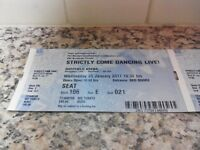 STRICTLY COME DANCING LIVE 10th ANNIVERSARY TOUR TICKETS--25th JAN--SHEFFIELD--VERY GOOD SEATS