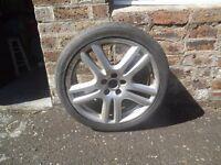 18 inch Jaguar Aruba Alloy Wheel and Tyre for sale