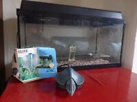 Aquarium/Fish Tank 60x30x30 includes filter pump and light £50 Great condition.