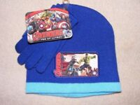 Avengers Age of Ultron Beanie Hat and Gloves Set Age 3-6: Brand New and Unused