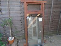 wooden exterior door and wooden window