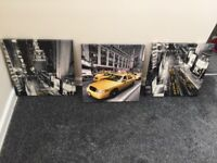 New York taxi canvases